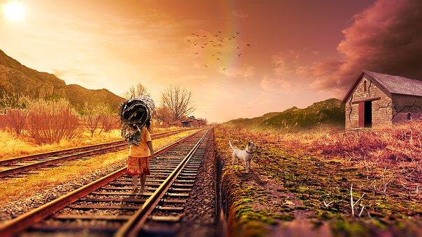 Estrada De Ferro, Railroad Tracks, Only, Trip, Nature