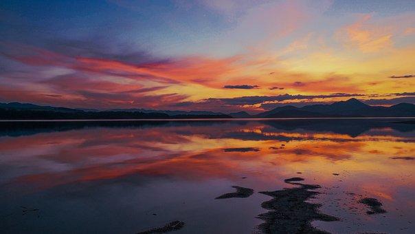 Sunset, Sea, Water, The Sky, Ocean, Twilight, Nature