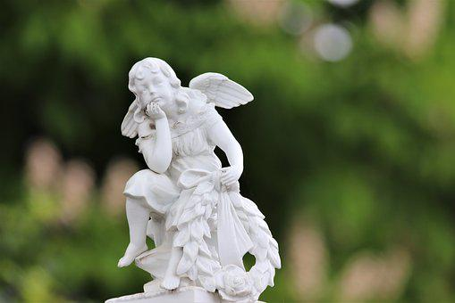 White Angel, Statue, Sculpture, Spirituality, Cemetery