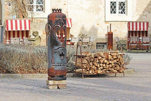 Water Castle Mellenthin, Historically, Beer Garden