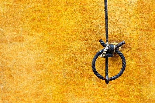 Bell Strand, Door Bell, Wire, Wall, Metal