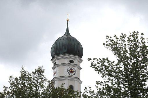 Church, Onion Dome, Architecture, Building, Bavaria