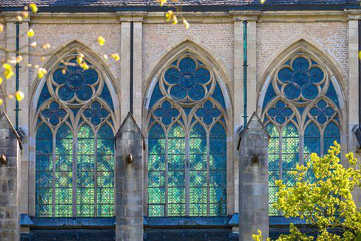Church Window, Window, Gothic, By Looking