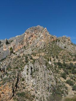 Mountain, Rocks, Castellote, Teruel, Landscape