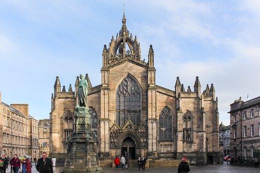 Edinburgh, Scotland, Castle, Architecture, Landscape