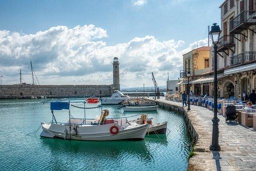 Crete, Rethymno, Port, Historic Center, Greece