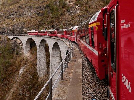 Bernina, Express, Switzerland, Alpine, Graubünden