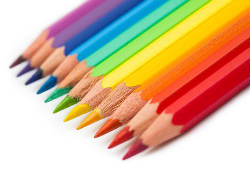 Crayons, Colorful, To Draw, Figure, School, Painting