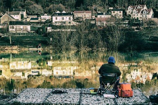 Fisherman, Fish, Lake, Nature, Fishing, Landscape