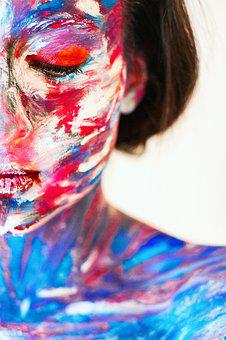 Girl, Person, Colorfully, Color, Bright, Art, Model