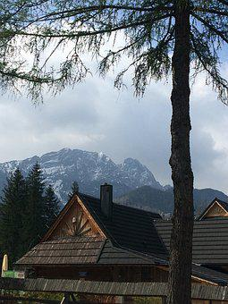 Mountains, Tatry, Giewont, Jump, Tops, Podhale, Sky