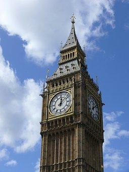 Big Ben, London, Clocktower, Clock, Parliament