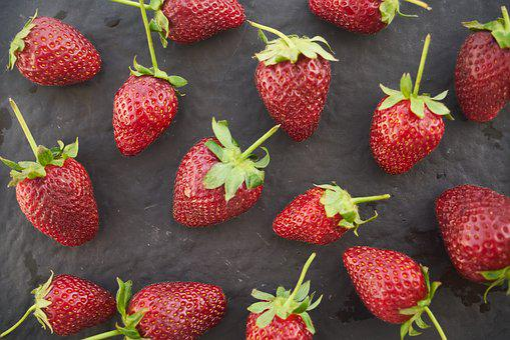 Strawberry, Fruit, Macro, Vegetarian, Nutrition