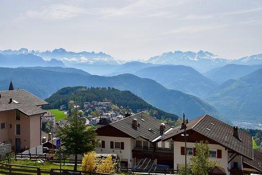 Jenesien, San Genesio, Mountains, Panorama, Italy
