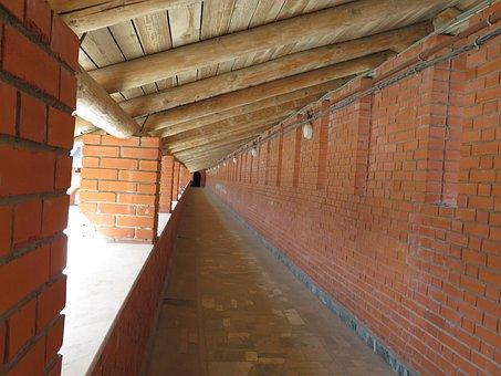 Brick, Tree, Tunnel, Passage, Wall