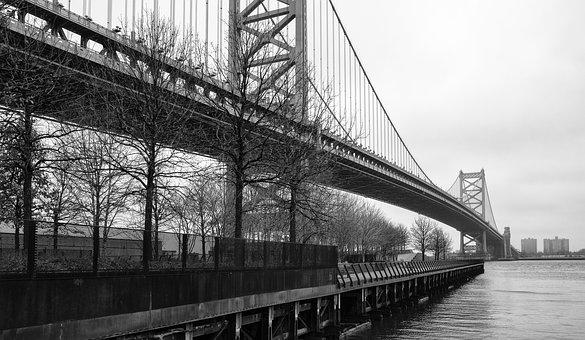 Philadelphia, Philly, Bridge, Ben Franklin Bridge