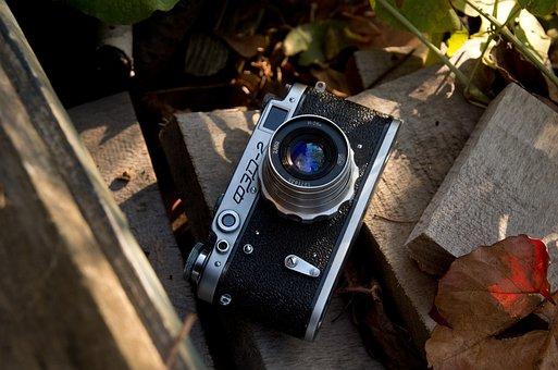 Camera, Russian, Old, Antique, Light, Mood