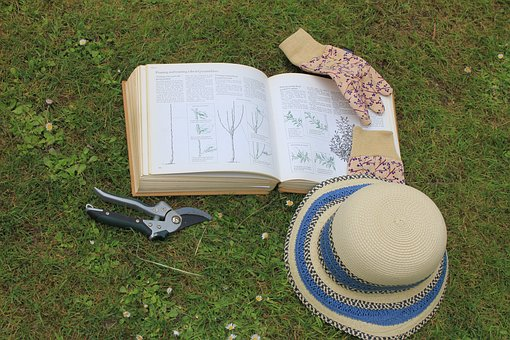 Gardening, Book, Sun Hat, Garden Gloves, Spring, Summer