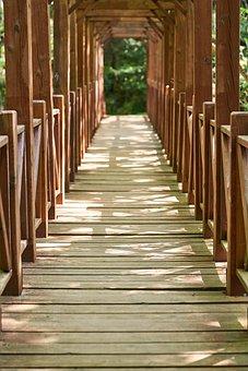 Bridge, Wood, Wood-fibre Boards, Digits, Nature