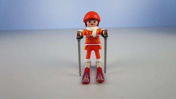Skier, Playmobil, Miniature, Youtube