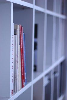 Shelf, White, Living World, Bookshelf, Books