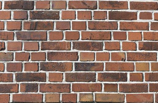 Wall, Bricks, Texture, Pattern, Masonry, Red, Mortar
