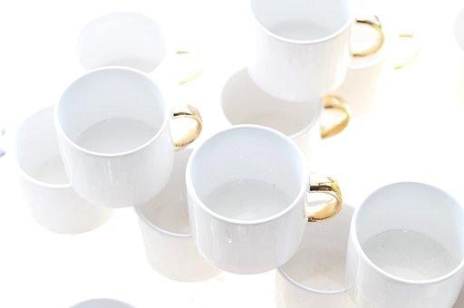 White, Ceramic, Cup, Clean, Ornament, Porcelain, Light