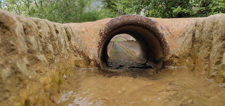 Tunnel, Water, Pierre, Tube, Channel