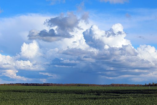 Flat Land, Mecklenburg Western Pomerania, Clouds, Sky