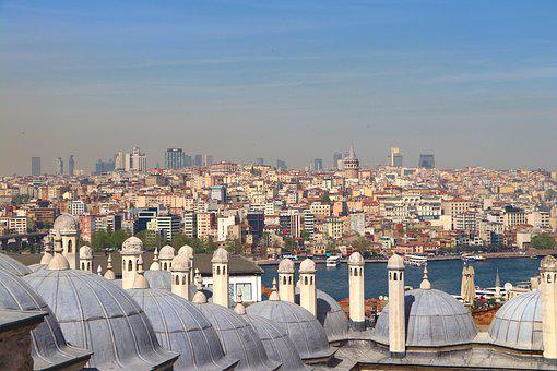 Landscape, Galata, Süleymaniye, Sky, Buildings, City