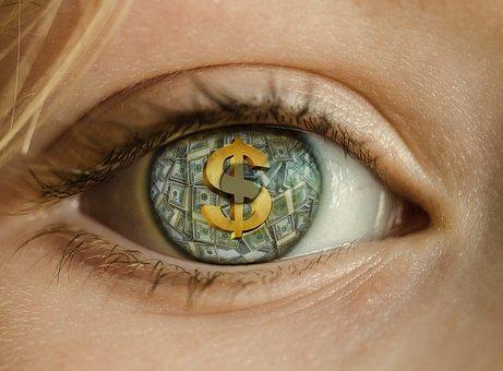 Money, Eye, Dollar, Greed, Rich, Cash, Wealth, Stacks