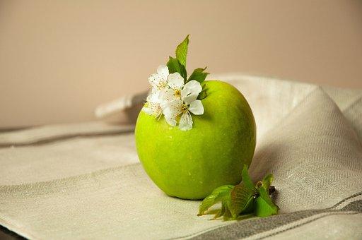 Apple, Green Apple, Spring Flowers, Fruit, Blossom