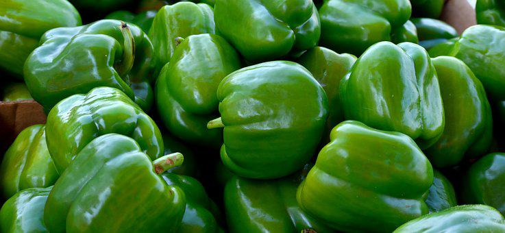 Green Peppers, Vegetable, Food, Nutrition, Green
