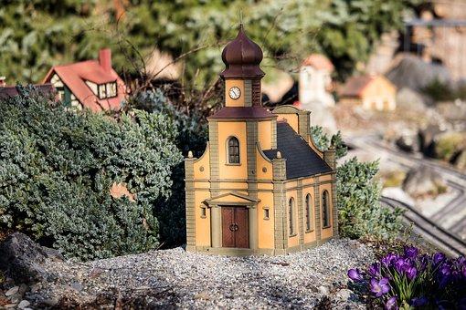 House, Church, Small, Decoration, Miniature, Craft