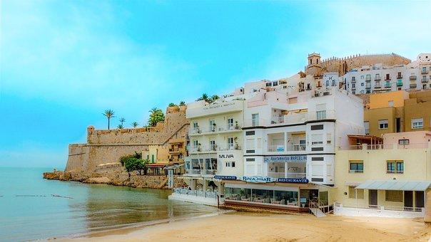 City, Peñíscola, Castle, Beach, Historic Center, Houses