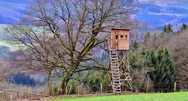 Observation Post, Wildhut, Bird Hut, Hunting Lodge