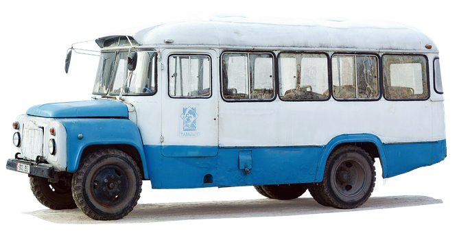 Bus, Kawz-3976, Isolated, Russia, Kyrgyzstan, Old Cccp