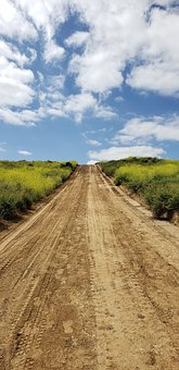 Path, Guide, Future, Long Road, Landscape, Uphill