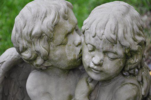 Angel, Kiss, Love, Statue, Figure, Angel Figure
