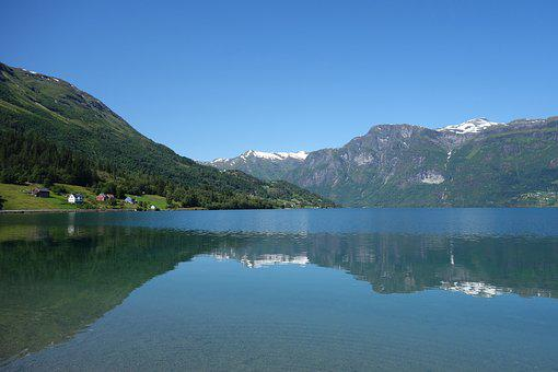 Nature, Landscape, Scenic, Blue, Sky, Snow, Mountains