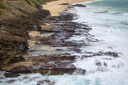 Hawaii, Beach, Sea, Pacific, Water, Ocean, Sand, Sky