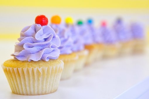 Cupcakes, Frosting, Purple, Gumball, Delicious, Party