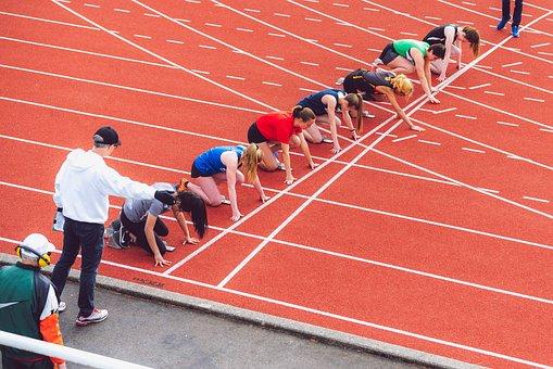 Race, Track And Field, Running, Sport, Sprint, Start