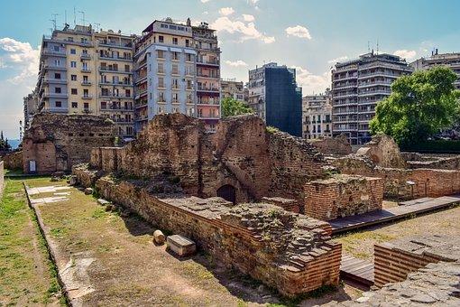 Greece, Thessaloniki, Galerius Palace, Roman