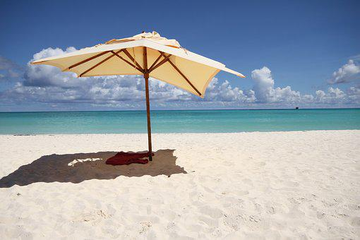 Beach, The Sun, Umbrella, Sea, Summer, The Coast