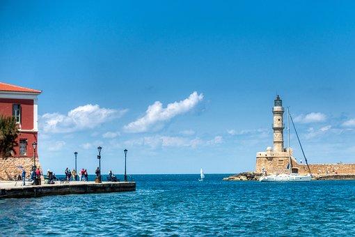 Crete, Chania, Sea, Greece, Historic Center, Port