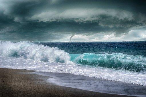 Sea, Storm, Waves, Sleeve Navy, Sky, Clouds, Costa