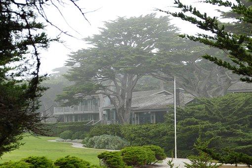 House, Wood, Monterey, Spanish Bay, California