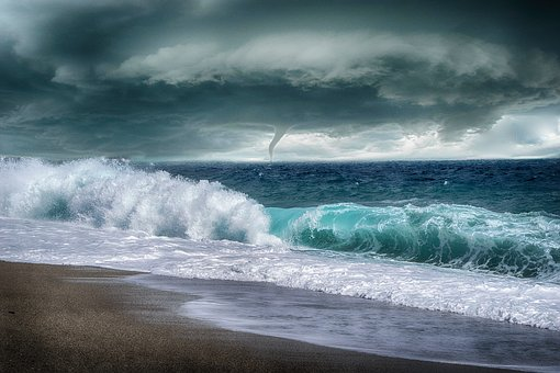 Sea, Storm, Waves, Sleeve Navy, Sky, Clouds, Costa