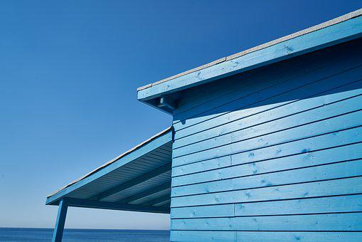 Blue, Home, Wood, Sky, Summer, Nature, Atmosphere